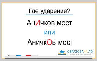Ударение в слове АНИЧКОВ